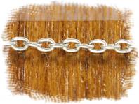 Цепочка паяная Sterling Silver серебряная, средняя: общ. ширина 2 мм., материал: серебро 925 пробы (стерлинг сильвер),