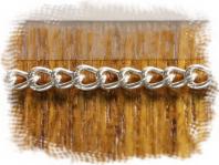 Цепочка паяная Sterling Silver серебряная, средняя: общ. ширина 2 мм., материал: серебро 925 пробы
