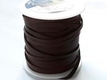 Мягкий кожаный двухсторонний шнур отличного качества  ширина/толщина 3х1 мм, цвет темно-коричневый.