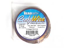 Товар-проволока для творческих работ Craft Wire. Размер-1.02 мм. (18 ga). Цвет-винтажная бронза (красивый, золотисто-коричневый)