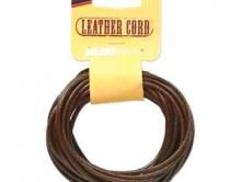 Шнур круглый кожаный 3 мм. в диаметре, длина 5 ярдов (4.6 метра)
