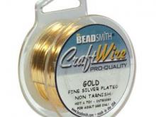 проволока для рукоделия и творческих работ Craft Wire (made in USA). Размер диаметра-0.32 мм. (28 ga). Цвет-золото.