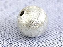 бусина круглая серебряная (не глянцевая)