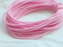 Нейлоновый шнур 1 мм. розовый, состав 100% нейлон