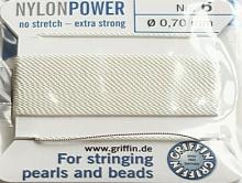 Нить Griffin нейлоновая для жемчуга с иглой