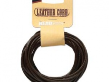 Шнур круглый кожаный 2 мм. в диаметре, длина 5 ярдов (4.6 метра) цвет-черный отличного качества.