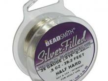 Проволока Silver Filled 24 ga (0.5 мм.) 25 футов. (7.62 м.) Проволока Сильвер-Филд