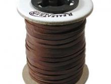 Замша натуральная, 3 мм, цвет - темно-коричневый