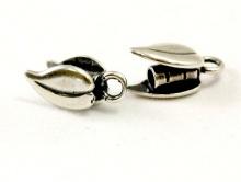 Концевик ант. серебро на шнур 2 мм.