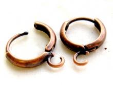 швензы кольца с замком металлические, цвета античной меди.