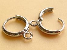 швензы кольца с замком металлические, цвета серебра