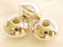 Бусина, цвет серебро