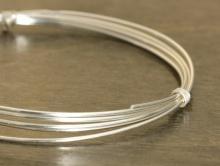 Серебряная проволока полужесткая Sterling Silver half hard серебряная 20 g (0.81 мм.)