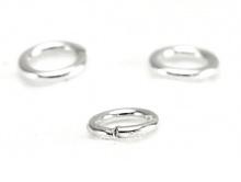 Колечко соединительное открытое серебряное, фурнитура для создания украшений размер –4х0.7 мм.