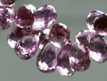 Бусина ограненного александрита, капля (бриолет)