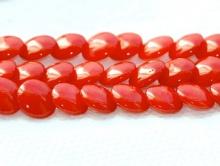 Коралл красный Чечевица 7х4 мм. мм.