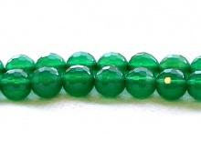 Бусина – хризопраз нат. круглый, ограненный, цвет-изумрудно-зеленый, полупрозрачный.