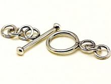 Замочек серебряный тогл для браслетов, колье ручной работы