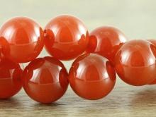 Бусина круглая полированная, камень–сердолик натуральный, диаметр–12 мм.