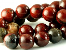 Бусины круглые–камень яшма натуральная красная. Размер–10-10.5 мм. вн.отв. 1.1 мм. Цвет-благородный, тёмно-кирпичный (тициановый)