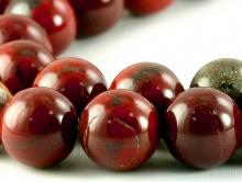 Бусины круглые–камень яшма натуральная красная. Цвет-благородный, тёмно-кирпичный (тициановый)