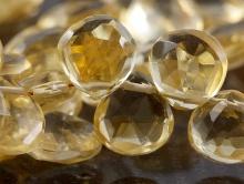 Бусина-камень цитрин натуральный ручной огранки