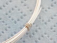 Серебряная мягкая проволока, тонкая 0.4 мм. ювелирная для изготовления украшений Handmade