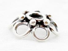 Шапочка для бусин серебряная ручной работы используется для создания украшений Handmade