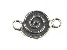 коннектор, стерлинговое серебро 925 для изготовления авторских украшений.