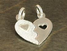 """Подвеска серебряная """"Сердце""""  на двух колечках для изготовления авторских украшений Handmade:"""
