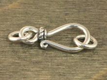 Замочек крючок из серебра Sterling silver для украшений Handmade. Материал-сплав серебро 925 пробы