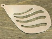 Подвеска серебряная, полированная с хорошим глянцем для изготовления украшения (кулоны, серьги)