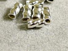Товар-кримпы декоративные Silver Filled (Сильвер Филд).  Размер д/ш- 3х1.5 мм. Вн. отверстие.-1.1 мм.