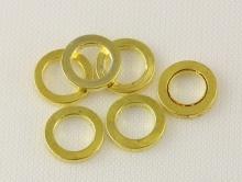 Колечко соединительное плоское закрытое. Размер–6х1 мм. материал-сплав, цвет-золото
