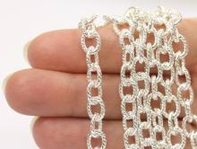 Цепочка крупная 8.8 мм. цвет  серебро, для создания украшений