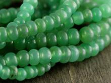 Бусина гладкая рондель, хороший природный хризопраз салатово-зелёный