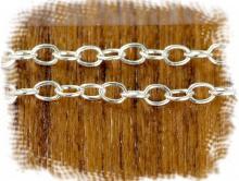 Цепочка паяная серебряная, материал: Sterling Silver (состав: серебро 925 пробы) средняя, для создания украшений,