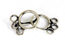 Замок крючок серебряный на три нити, материал-еребро 925 пробы (92.5 % серебра), Используется для создания украшений Handmade