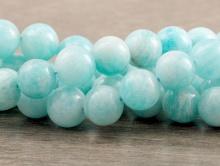 Бусины 8 мм. камень натуральный амазонит полированный За 1 шт.