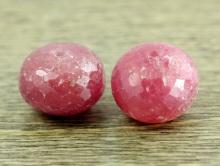 Бусина огранённая форма крупная рондель, камень-турмалин натуральный. Цвет-розово-малиновый, приглушенный, полупрозрачный, огранка ручная,