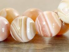 Бусина крупная полированная, натуральный камень-агат натуральный, размер-12 мм.
