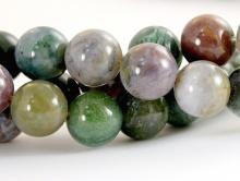 Бусины круглые гладкие, камень–яшма натуральная., Размер-10 мм. вн. отв. 1.0 мм., цвет микс-приглушенные: зеленый, сиреневатый, серо-голубоватый.