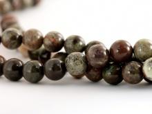 Бусины круглые гладкие, камень–яшма натуральная. для браслетов бус и др. украшений