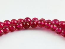 Бусина 4 мм. круглая полированная, камень шпинель благородная (красная)