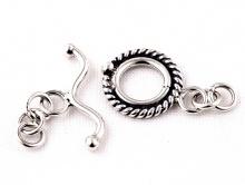 Замочек-тогл серебряный ручной работы, для создания украшений из серебра, материал-серебро 925 пробы