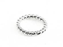 Колечко витое соединительное серебряное белое  закрытое. Материал-серебро 925 пробы.