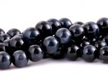 """Бусина, камень натуральный петерсит """"Соколиный глаз"""". Размер –8 мм. вн. отв. 1.1 мм. Цена за-10 шт. Цвет-тёмно-серый с хорошим серо-голубым переливом, красив,"""
