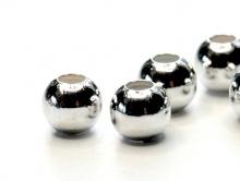 Бусина шарик 4 мм Silver Filled (сильвер филд). За упак. 100 шт.