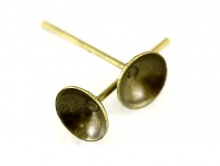 Гвоздик-основа 6 мм. для серег цв. бронза.