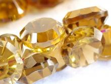 Бусина огранённая из топаза золотистого